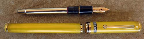 LEVENGER SEAS CARRIBBEAN YELLOW CONNAISSEUR FOUNTAIN PEN