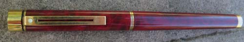 SHEAFFER TARGA LACQUE RED RONCE FOUNTAIN PEN