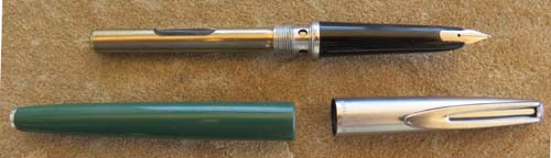 WATERMAN's CF IN GREEN W/ BRUSHED STAINLESS CAP
