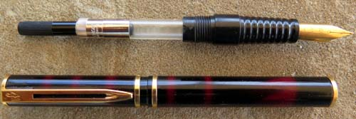 LAUREAT I FOUNTAIN PEN IN RED MARBLED LACQUER