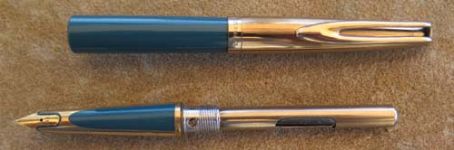 WATERMAN's CF IN BLUE W/ GOLD FOILLED CAP, TRIM, and INLAYS - A GORGEOUS PEN