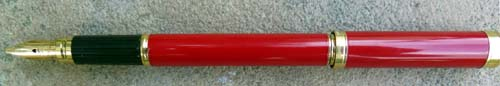 WATERMAN's LIPSTICK FOUNTAIN PEN in BRIGHT RED