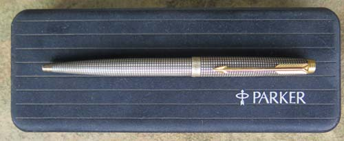 PARKER 75 STERLING CISELE CAP ACTUATED BALLPOINT
