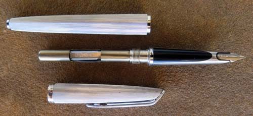 WATERMANS CLASSIC 11759 HEAVY SILVER ELECTROPLATE, FILLETED CF FOUNTAIN PEN