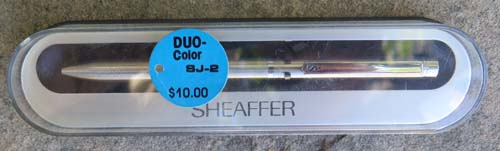 SHEAFFER 8J-2 TWO COLOR NEW OLD STOCK BALLPOINT, IN BOX