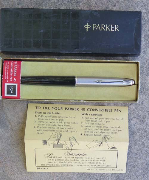 3 Parker 45 Black New Old Stock Shells Easy to Install