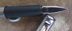 MONTBLANC 2118 EARLY STYLE CS LINE BRUSHED STAINLESS FINISH NOS PEN ca 1987