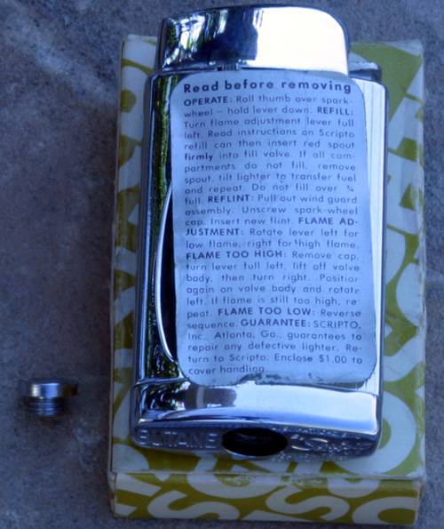 SCRIPTO BUTANE LIGHTER, NEW OLD STOCK