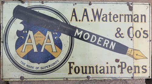AA WAYTERMANS PORCELAIN ADVERTISING SIGN