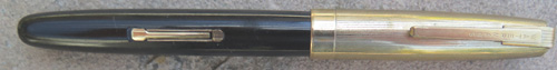 WATERMANS TAPERITE IN BLACK WITH GOLD FILLED CAP