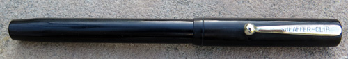 1918 SHEAFFER No. 2 FLAT TOP BLACK HARD RUBBER / NICKEL PLATED TRIM. No. 2 ' SELF FILLING' Flexible Broad nib.