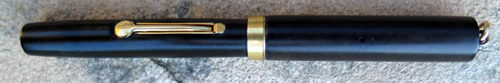 WATERMANS 52 1/2V BLACK HARD RUBBER PEN WITH THE CLASSIC FLEXIBLE #2 WATERMANS IDEAL REG U.S. PAT. OFF 14K nib.