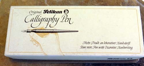 PELIKAN MC 110 CALLIGRAPHY PEN. Piston filling with taper and cap. Available with 2 mm or 1 mm Pelikan Calligraphy nib.
