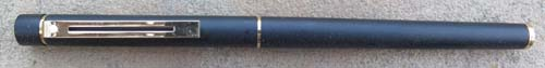 SHEAFFER SLIM TARGA IN MATTE BLACK FINISH ON METAL. NEW OLD STOCK. Includes a hard to find Slim Targa converter. Medium 14K nib.