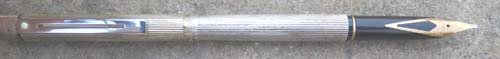 SHEAFFER #1024 FLUTED STERLING SILVER FOUNTAIN PEN. New old stock