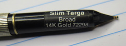 SHEAFFER SLIM TARGA STERLING SILVER FLUTED FOUNTAIN PEN #1024. NEW OLD STOCK