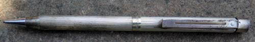 SHEAFFER #1024 FLUTED STERLING SILVER PENCIL. New old stock.