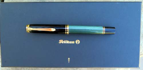PELIKAN M1000 WITH LEFT FOOT OBLIQUE FLEXIBLE MEDIUM TWO TONE 18K NIB
