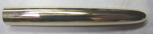 SOLID 14K GOLD PARKER 51 BARREL w/ lined pattern