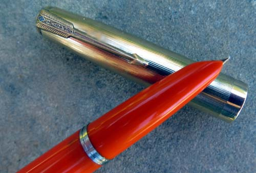 KULLOCK 51 STANDARD SIZED AEROMETRIC IN PARKER RED. DOUBLE JEWE