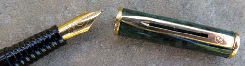 LAUREAT II FOUNTAIN PEN in green marble