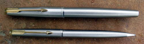 PARKER 61 CARTRIDGE FILLING (NOT CAPILLARY) FLIGHTER SET. MADE IN ENGLAND. NEVER INKED