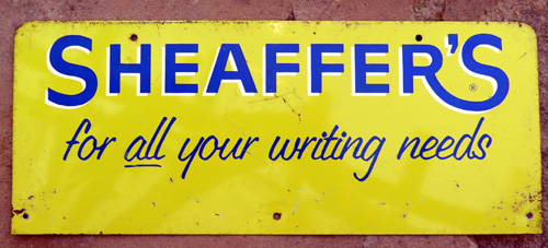 MTL SHEAFFER ADVERTISING SIGN