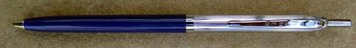 FISHER BLUE/CHROME CLICKER BALLPOINT WITH UNPRESSURIZED REFILL