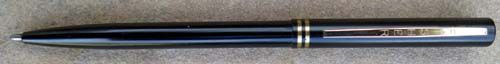 BLACK, SLIM FISHER SPAC PEN BALLPOINT. Cap actuated