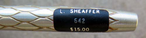 Lady Sheaffer 642 Silver Scalloped PENCIL- Made in USA.