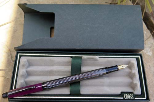 CROSS 316-6F PLUM FOUNTAIN PEN. NEW OLD STOCK