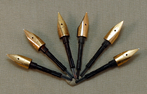 new old stock parker 75 fountain pen nibs