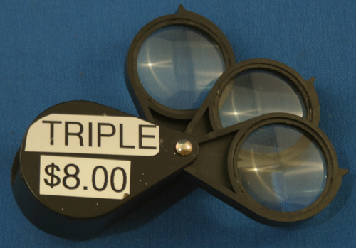 5X + 5X + 5X TRIPLE FOLDING POCKET LOUPE