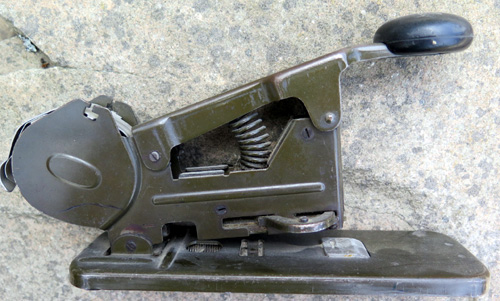 BATES MODEL 'B' SPOOL-FED STAPLER.