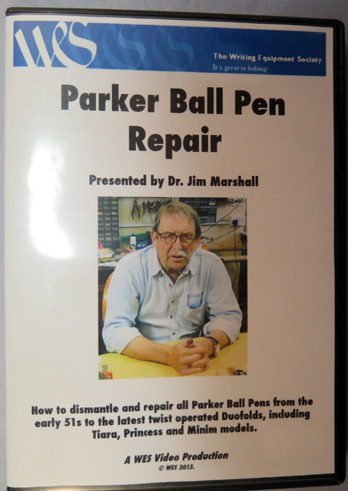Dr. Jim Marshall's Parker Ballpoint repair DVD