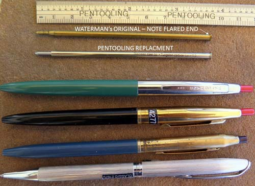 WATERMANs CF and OTHER EARLY BALLPOINT REFILLS