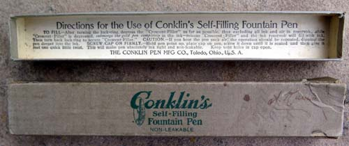 VINTAGE CONKLIN FOUNTAIN PEN BOX