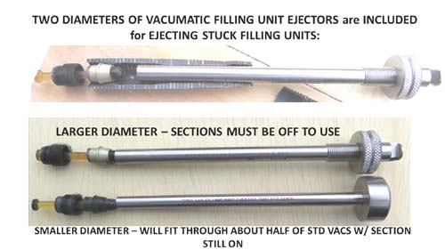 PARKER VACUMATIC FILLING UNIT EJECTOR SET WITH DIAPHRAGM SEAT SCRAPER