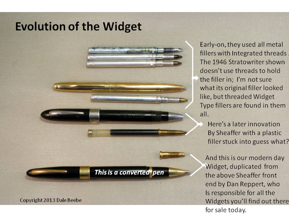EVOLUTION OF THE SHEAFFER WIDGET