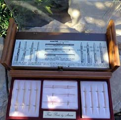 "18"" X 17"" WOOD / ACRYLIC DISPLAY CASE FOR PENS by ANSON"