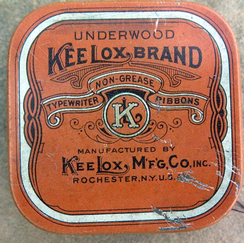 KEELOX BRAND TYPEWRITER RIBBON BOX.