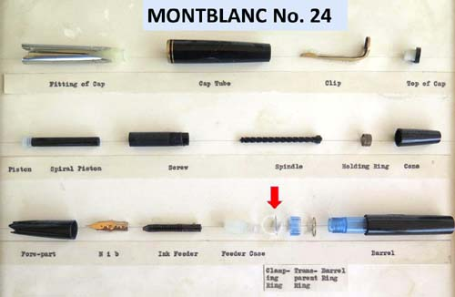 CLAMPING RING FOR MONTBLANC 'X'4 SERIES PENS (14, 24, 34)