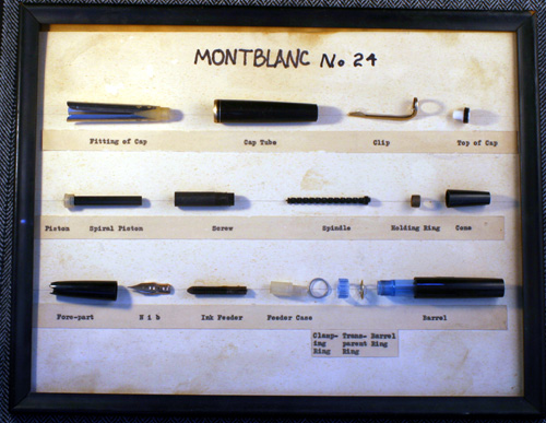 A MONTBLANC 24 DISPLAY PIECE