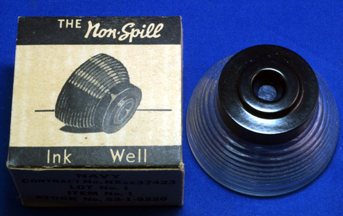 NAVY INKWELL, NEW OLD STOCK