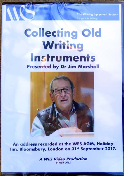 JIM MARSHALL'S DVD ON COLLECTING OLD WRITING INSTRUMENTS
