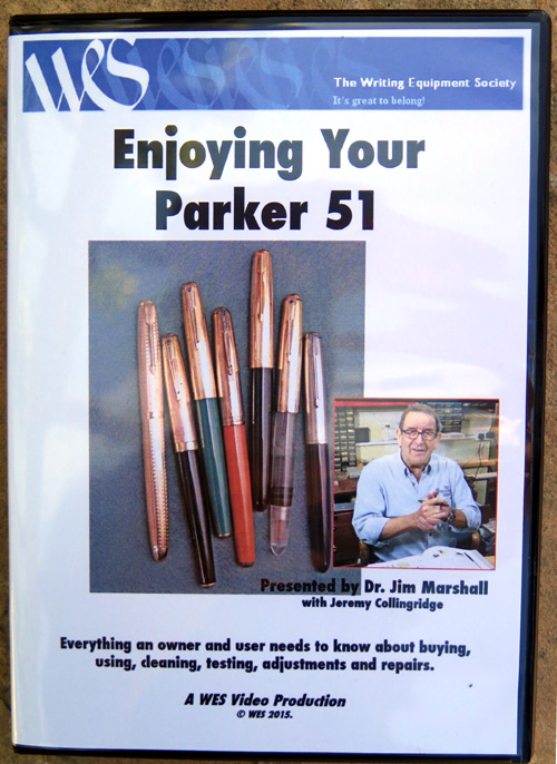 PARKER 51 REPAIR DVD JIM MARSHALL