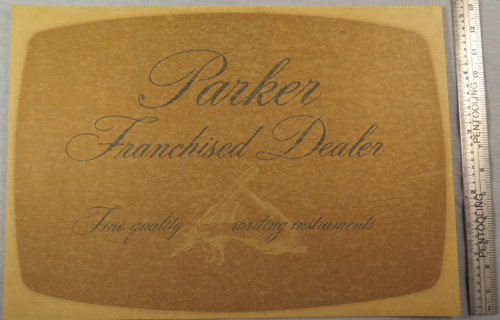 ORIGINAL PARKER FRANCHISED DEALER WINDOW DECAL