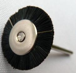 stiff mounted brush wheel
