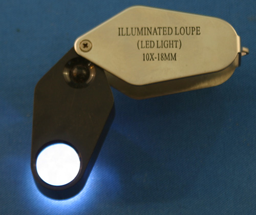 10X LED illuminated loupe