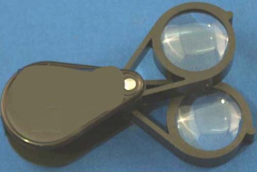 12X + 12X FOLDING POCKET LOUPE